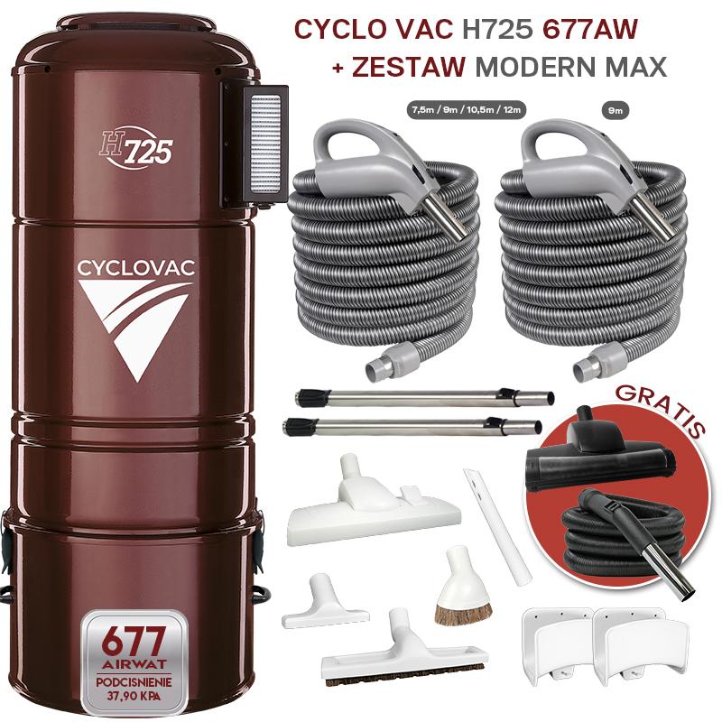 Odkurzacz centralny Cyclovac H725 z zestawami Optima Max 9m