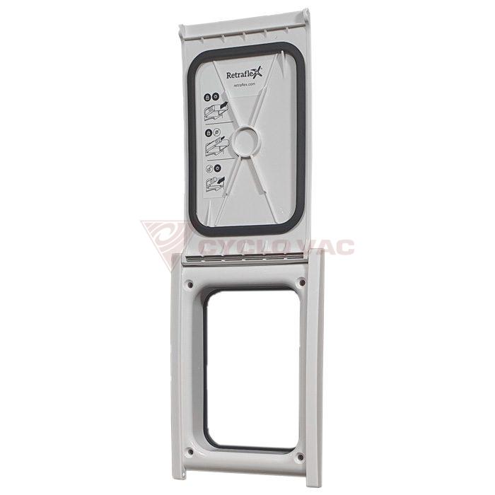 Drzwiczki do kasety gniazda Retraflex II, srebrne